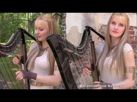 Game of Thrones Theme - Camille and Kennerly, Harp Twins