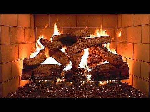 Logs - Burning Logs in Fireplace (1 hour in HD)