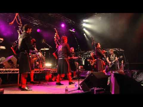 The Red Hot Chilli Pipers - Hellbound Train by The Red Hot Chilli Pipers at Inverness Hogmanay 2010