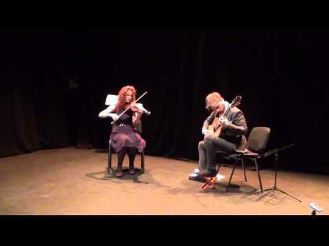 John and Anna playing a set of reels in Galway