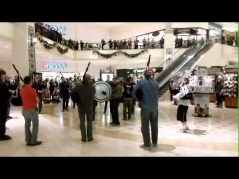 Bagpipes and Drums - Bagpipes and Drums Flash Mob